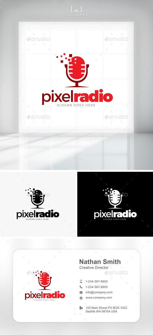 GraphicRiver Pixel Radio Logo 11162207