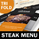 Steak House Trifold Menu - GraphicRiver Item for Sale