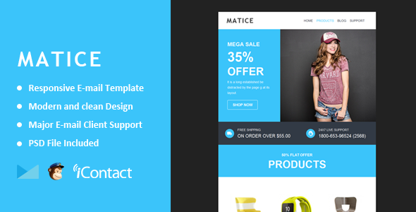 ThemeForest Matice Responsive E-mail Template & Themebuilder Access 11145937