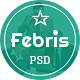 Febris - Porfolio, Corporate One Page PSD Template - Portfolio Creative
