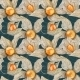 Watercolor Pattern with Physalis - GraphicRiver Item for Sale