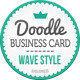 Doodle Business Card (wave) - GraphicRiver Item for Sale