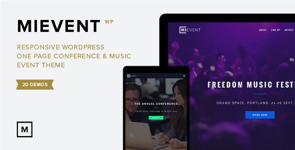 ThemeForest MiEvent Responsive Event & Music WordPress Theme 10136671