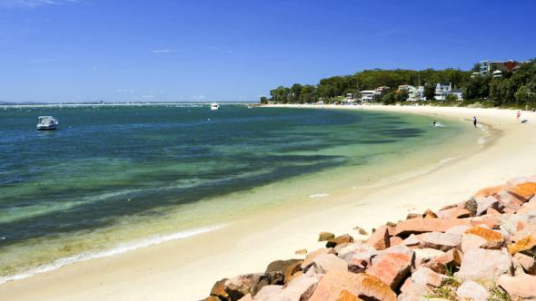 Beach at Nelson Bay Port Stephens