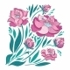 Pink Vector Flowers Set - GraphicRiver Item for Sale