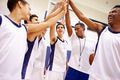 Male High School Basketball Team Having Team Talk With Coach - PhotoDune Item for Sale