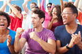 Audience Cheering At Outdoor Concert Performance
