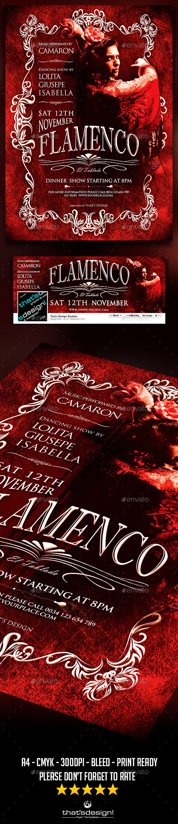 Flamenco Flyer Template V2 - Concerts Events