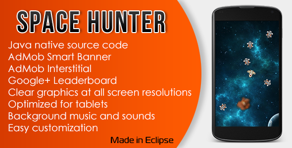 CodeCanyon Space Hunter with AdMob and Leaderboard 11164700