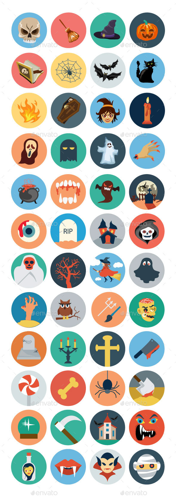 GraphicRiver 40& Flat Halloween Icons 11164703