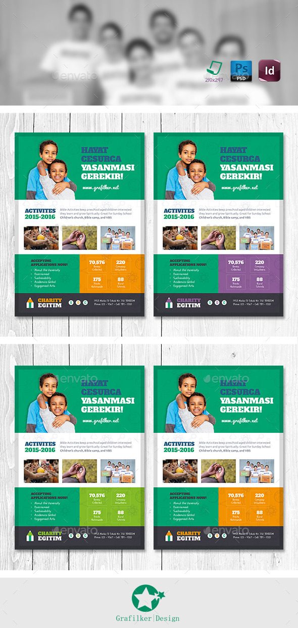 GraphicRiver Charity Flyer Templates 11164846