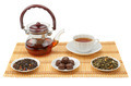 tea, teapot and cup isolated on white background - PhotoDune Item for Sale