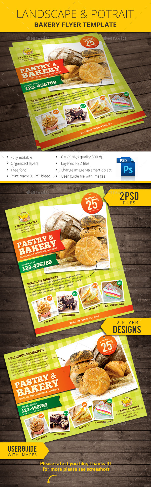 GraphicRiver Bakery Flyer Template 11165905