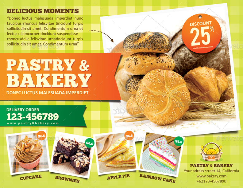 Bakery Flyer Template by monggokerso   GraphicRiver