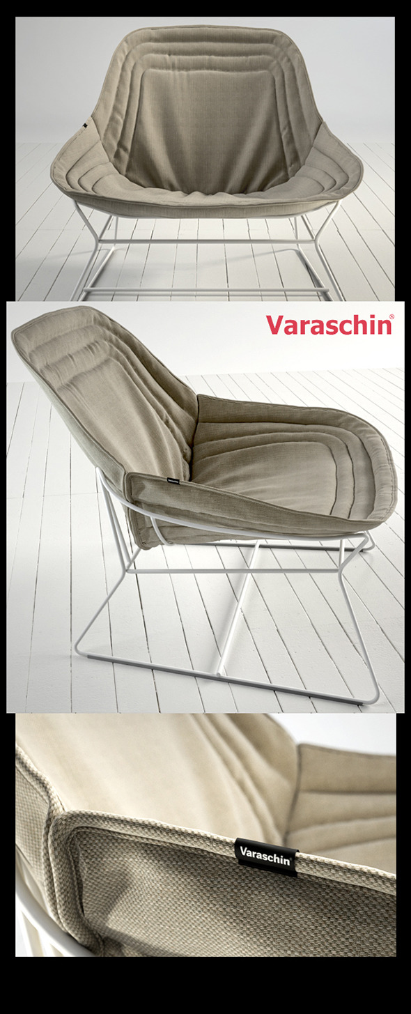 Chapeau armchair by Varaschin - 3DOcean Item for Sale