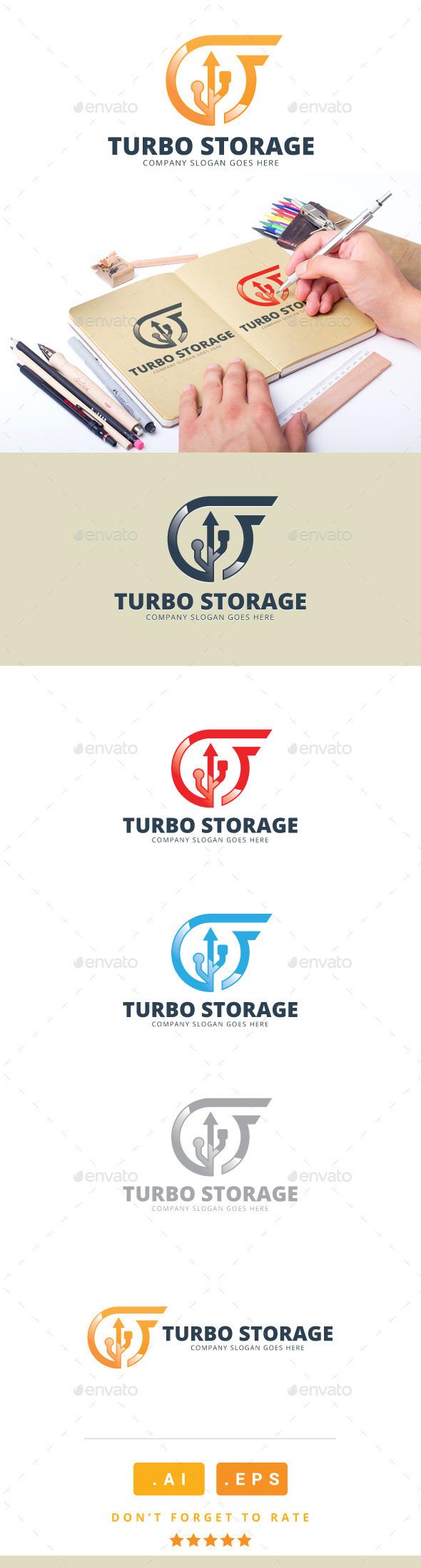 GraphicRiver Turbo Storage Logo 11166043