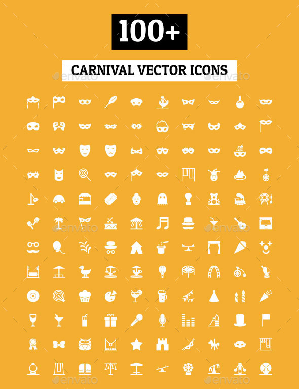 GraphicRiver 100& Carnival Vector Icons 11166064