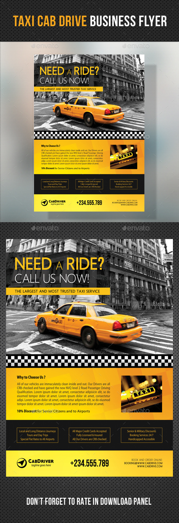 GraphicRiver Taxi Cab Drive Business Flyer V2 11166080