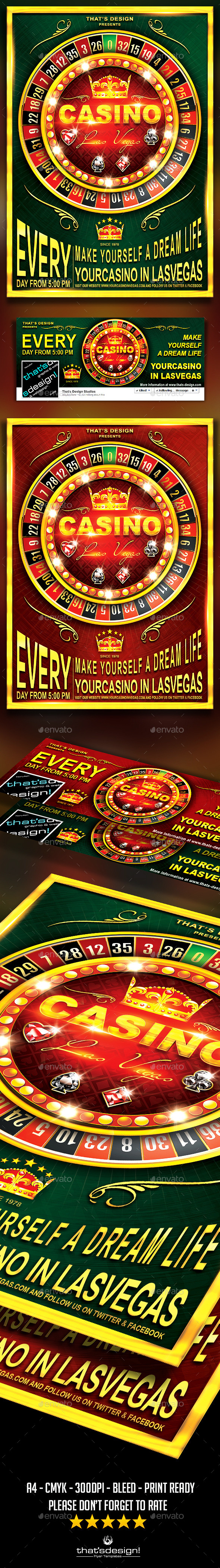 Casino Flyer Template V2 - Clubs & Parties Events