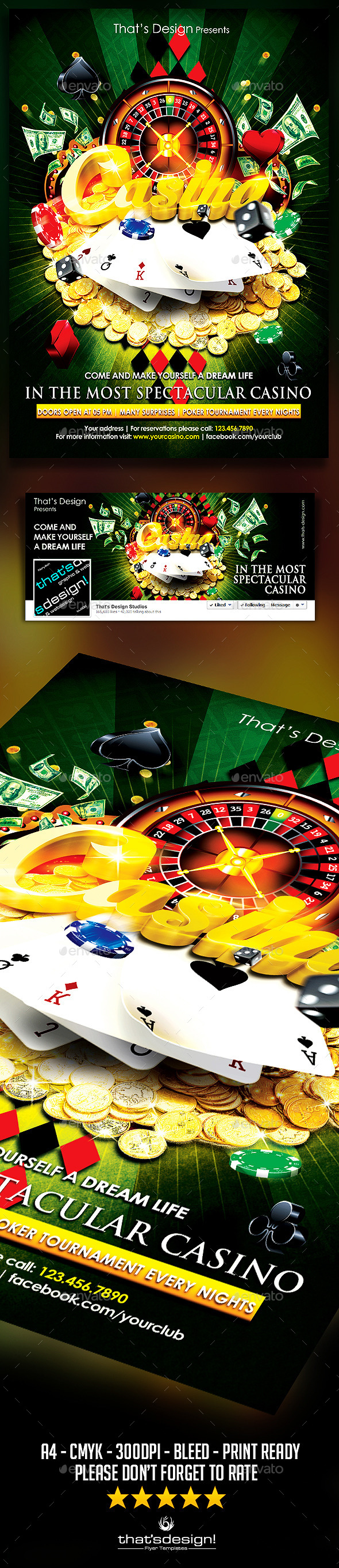 Casino Flyer Template V1 - Events Flyers