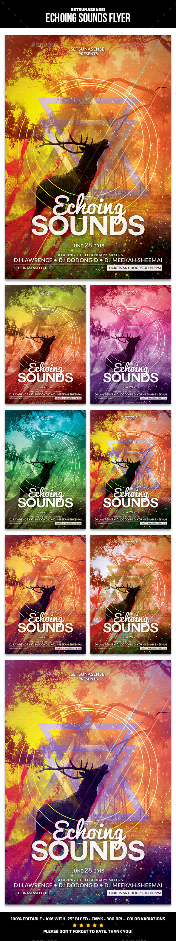 GraphicRiver Echoing Sounds Flyer 11166200