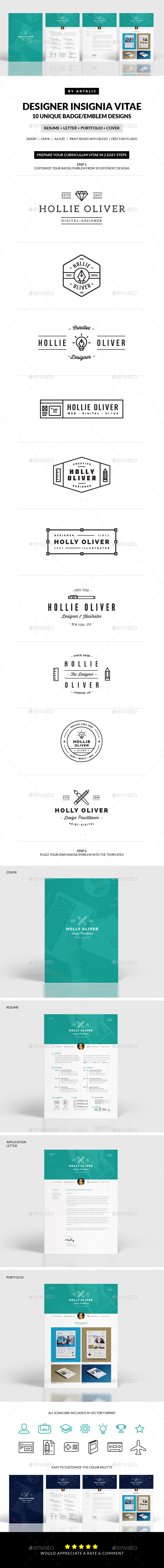GraphicRiver Insignia Resume 11166244
