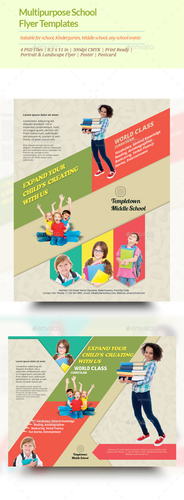 GraphicRiver Multipurpose School Flyer templates 11101778