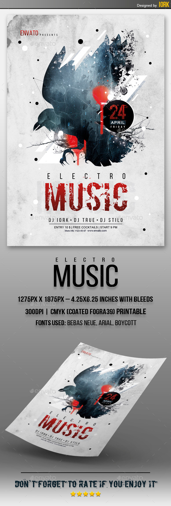GraphicRiver Electro Music Flyer 11166651