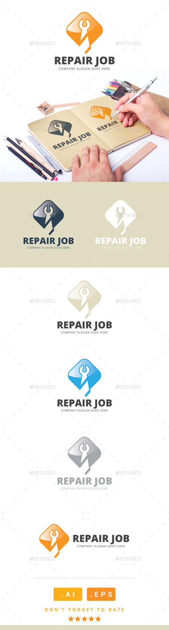 GraphicRiver Repair Job Logo 11166664