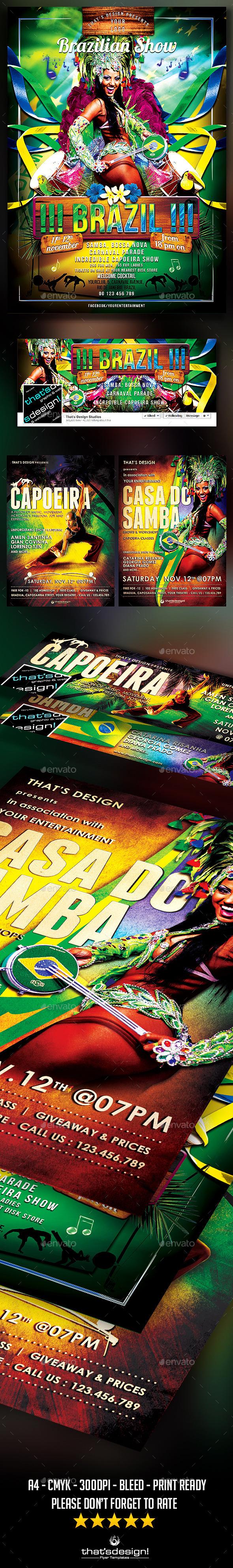 Brasilian Flyer Bundle - Clubs & Parties Events