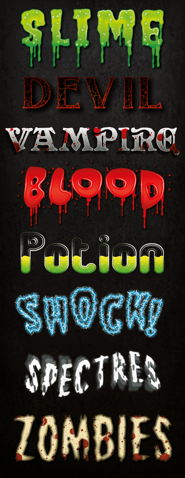 GraphicRiver Horror and Halloween Graphic Styles 11166763