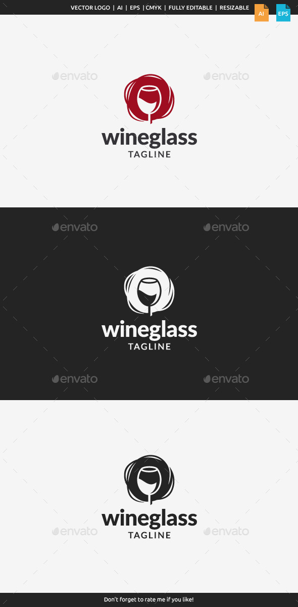 GraphicRiver Wine Glass Logo 11166768