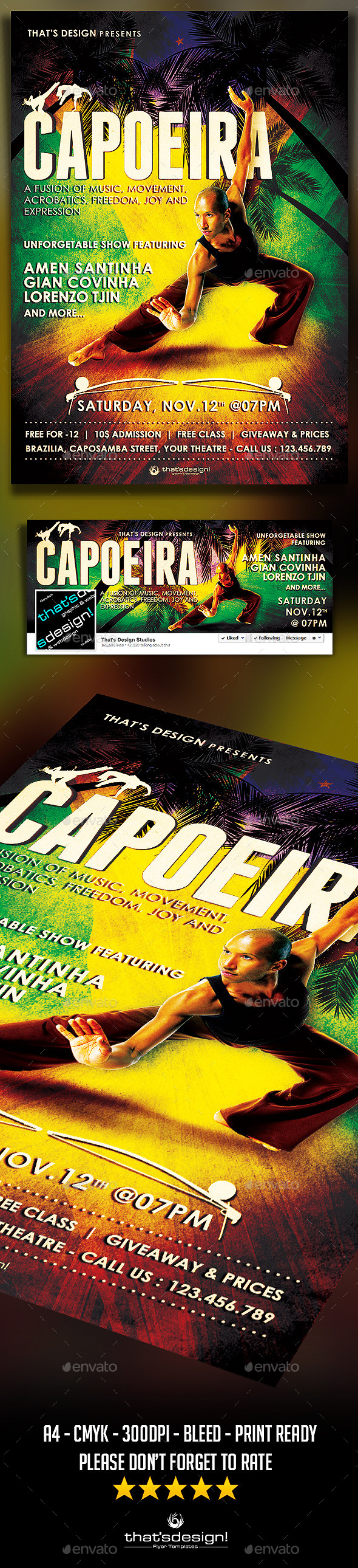 Capoeira Flyer Template - Concerts Events