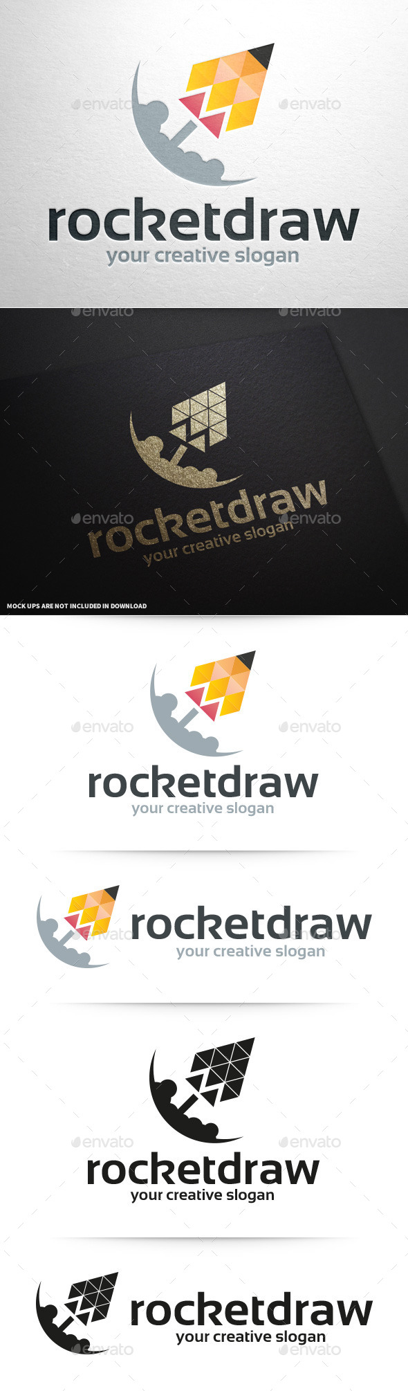 GraphicRiver Rocket Draw Logo Template 11166898