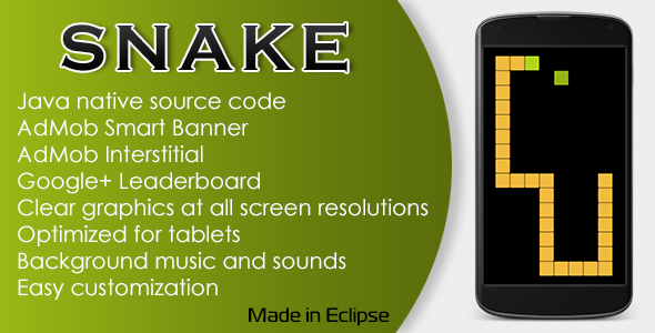 CodeCanyon Snake Game with AdMob and Leaderboard 11166912
