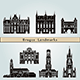 Bruges Landmarks and Monuments - GraphicRiver Item for Sale