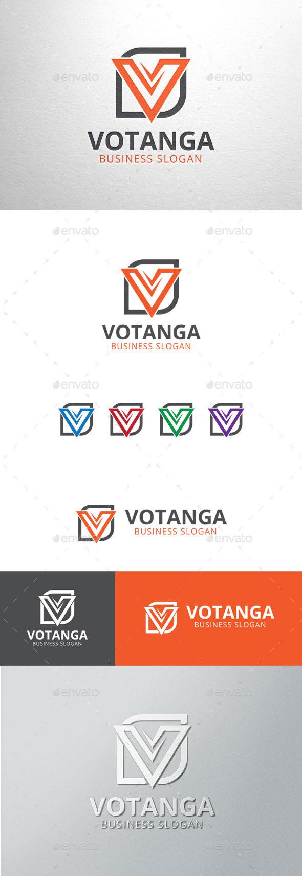 GraphicRiver Votanga Letter V Logo 11166999