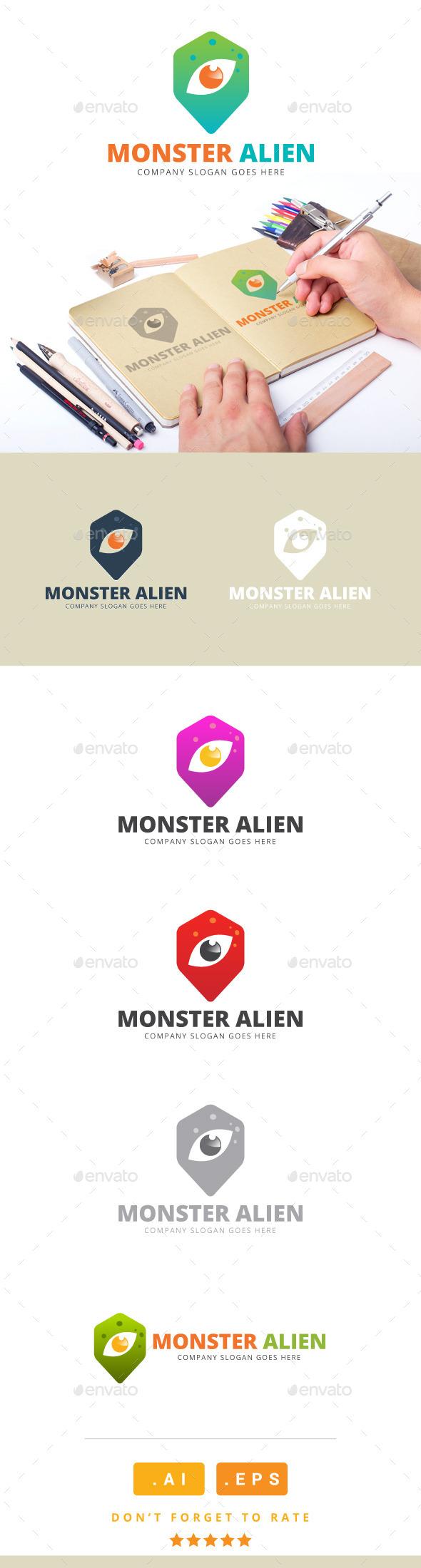 GraphicRiver Monster Alien Logo 11167027