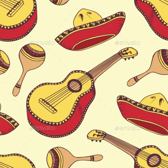 GraphicRiver Mexican Pattern 11167372