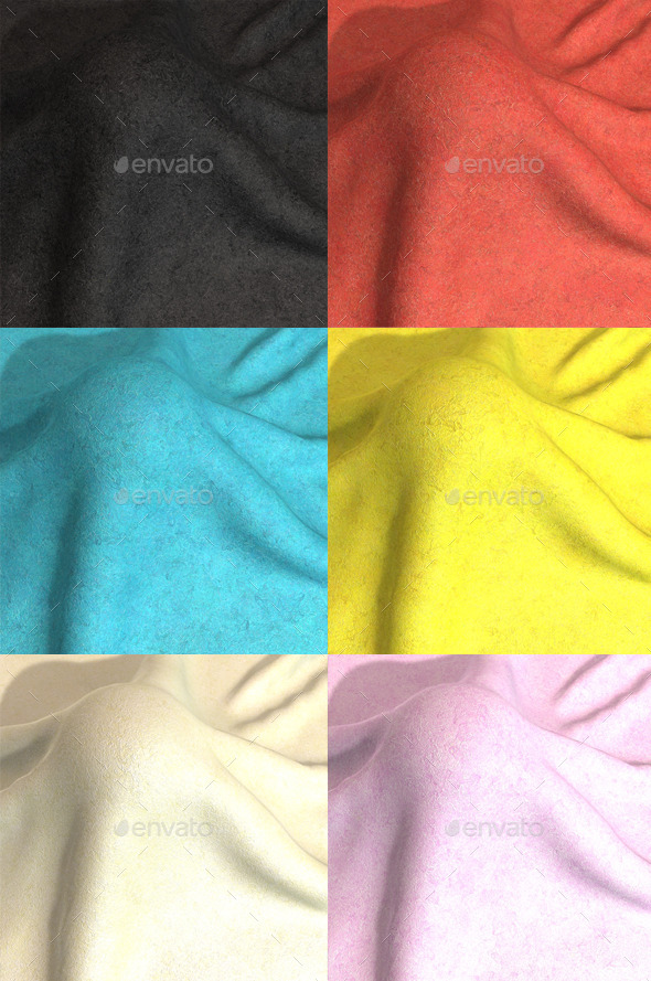 Felt Seamless Texture 6 Colours - 3DOcean Item for Sale