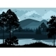 Landscape, Trees, Lake and Mountains - GraphicRiver Item for Sale