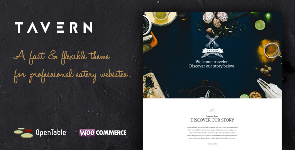 ThemeForest Tavern Professional Restaurant Theme 10984149