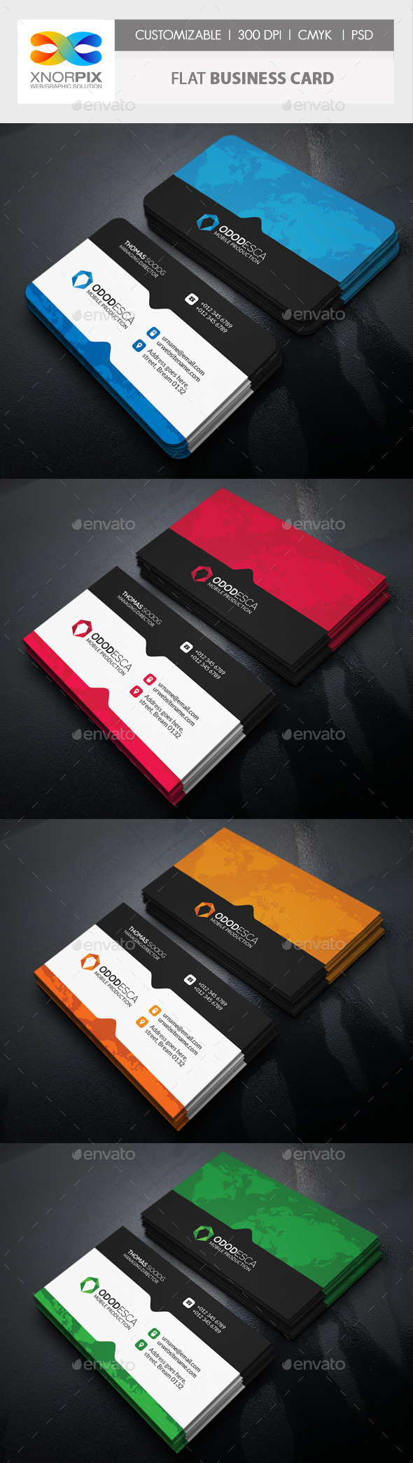 GraphicRiver Flat Business Card 11094149