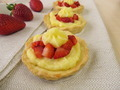 Pudding tartlets with strawberries - PhotoDune Item for Sale