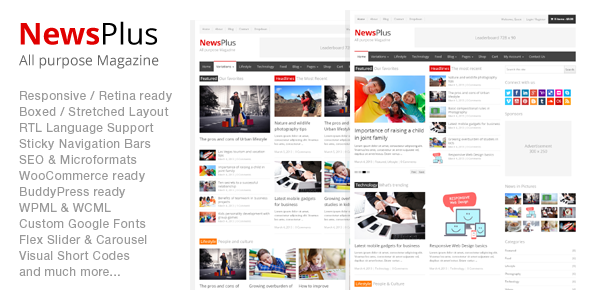 NewsPlus - Magazine/Editorial WordPress Theme - News / Editorial Blog / Magazine