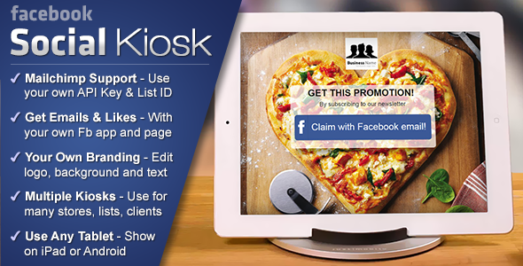 CodeCanyon Facebook Social Kiosk Collect Emails & Likes 11167786