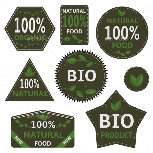 GraphicRiver Bio Labels and Symbols 11168080