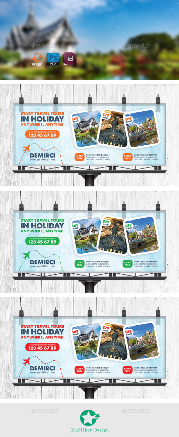 GraphicRiver Travel Tour Billboard Templates 11113214