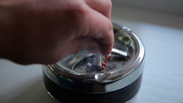 Quenching of Cigarettes in an Ashtray