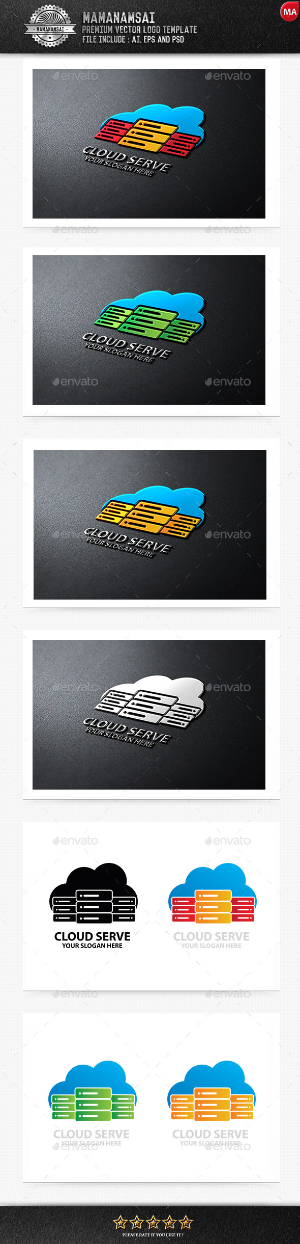 GraphicRiver Cloud Serve Logo 11095942